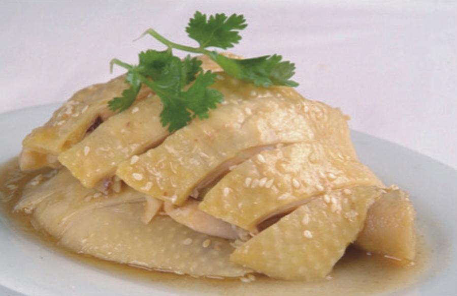 Sesame Sauce Steamed Chicken Rice Islam Food Halal Food Hong Kong