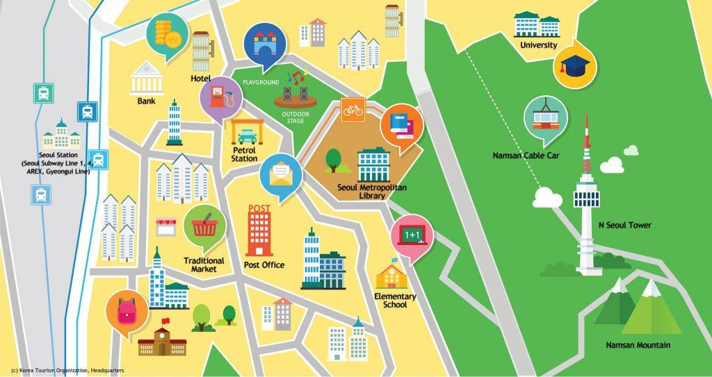 Sesat (Atau Tidak) Di Seoul Dengan Peta Berguna ini