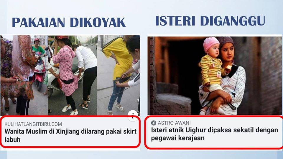 Pakaian Muslimah Uighur Dikoyak, Isteri Diganggu