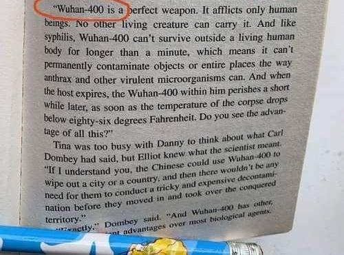 Buku Tahun 1981 Ini Pernah Cerita Pasal Coronavirus Dengan Nama Wuhan-400