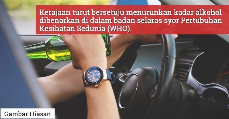 Denda Sehingga RM 150,000 & Penjara Sehingga 20 Tahun Menanti Pemandu Mabuk Jika Pindaan Akta Pengangkutan Jalan 1987 Diluluskan