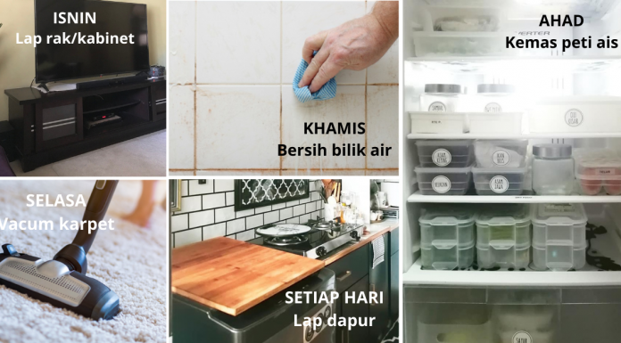 Ikut Jadual Ini Setiap Hari, Confirm Rumah Sentiasa Kemas & Bersih Tip Top!